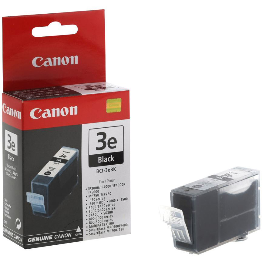 Original Canon BCI-3EBK Black Ink Cartridge (4479A002)