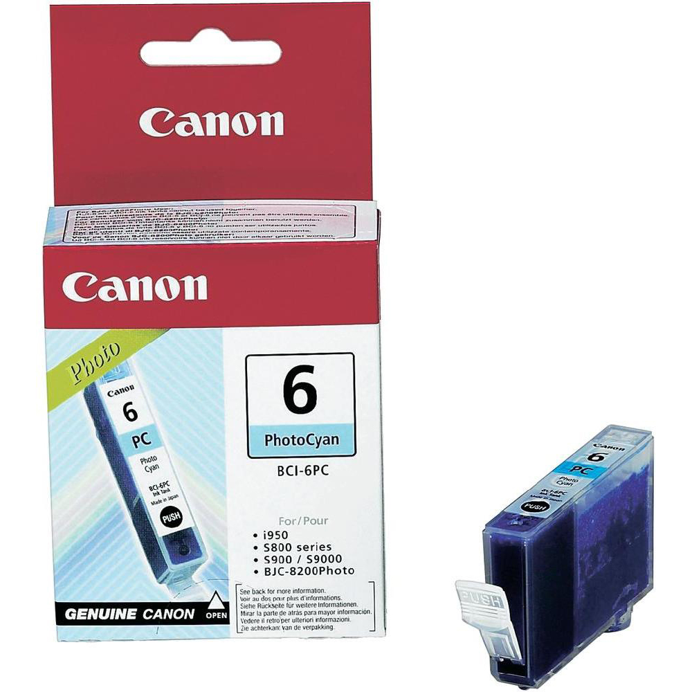 Original Canon BCI-6PC Photo Cyan Ink Cartridge (4709A002)