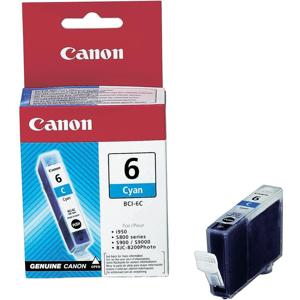 Original Canon BCI-6C Cyan Ink Cartridge (4706A002)