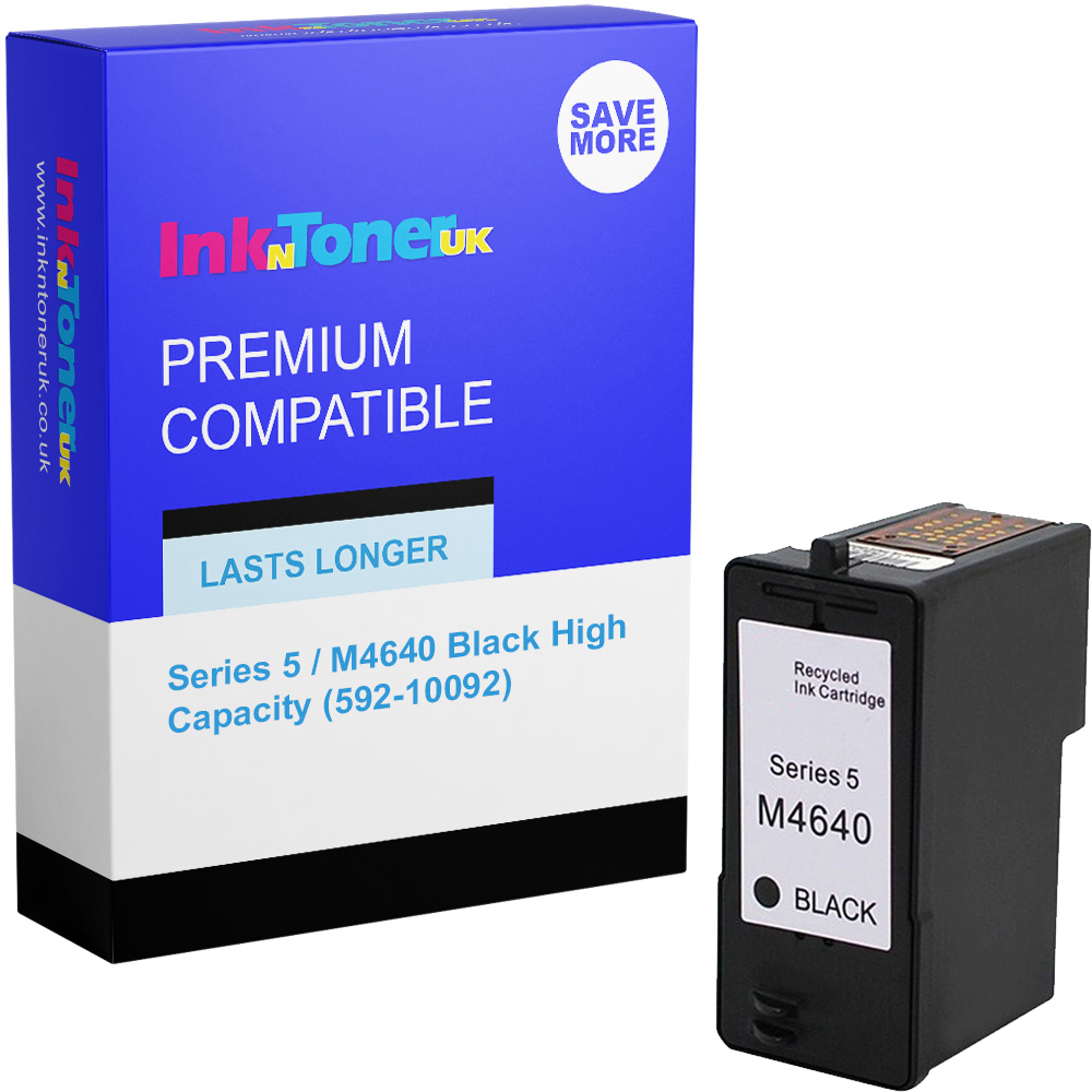 Premium Remanufactured Dell Series 5 / M4640 Black High Capacity Ink Cartridge (592-10092)