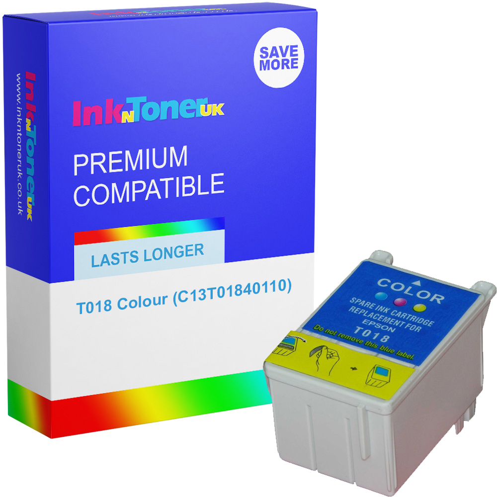 Premium Compatible Epson T018 Colour Ink Cartridge (C13T01840110)