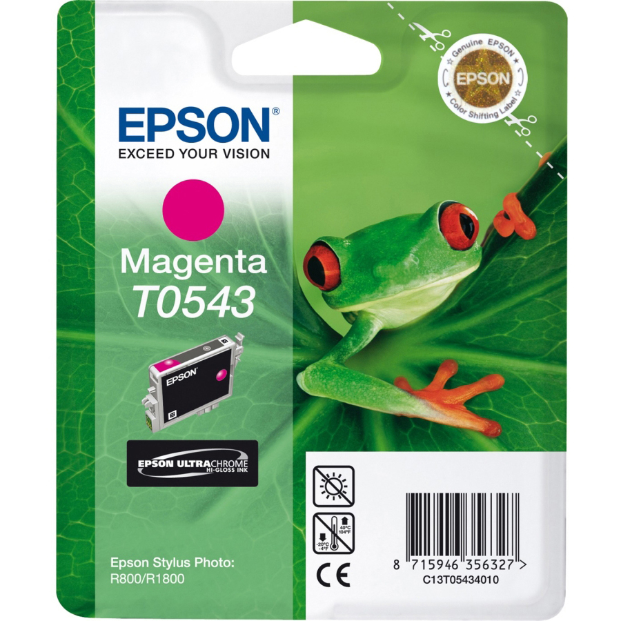 Original Epson T0543 Magenta Ink Cartridge (C13T05434010)