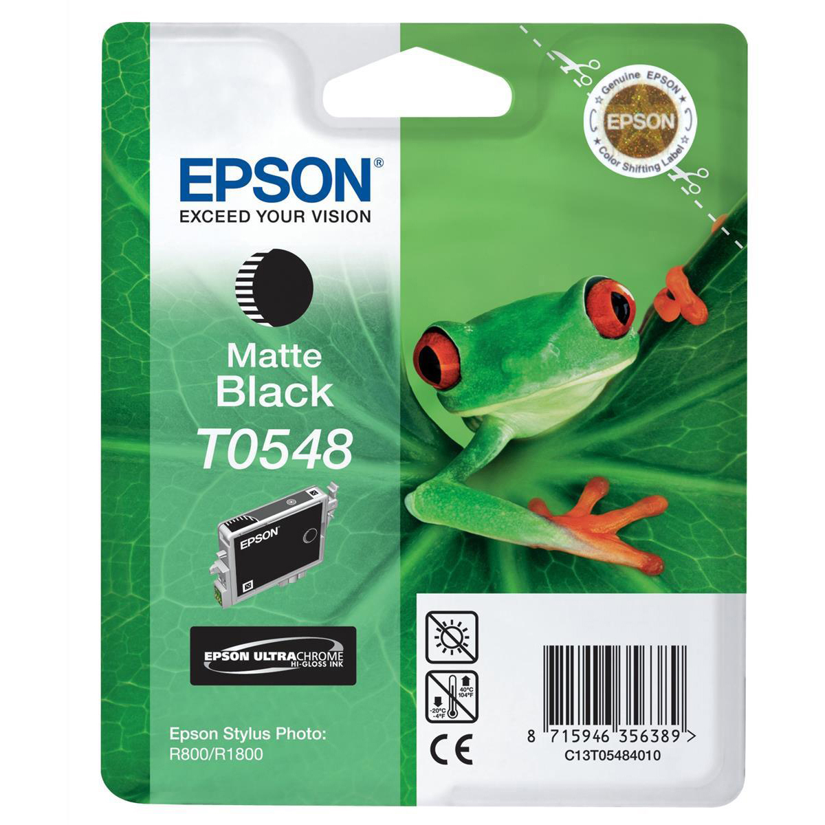 Original Epson T0548 Matte Black Ink Cartridge (C13T05484010)