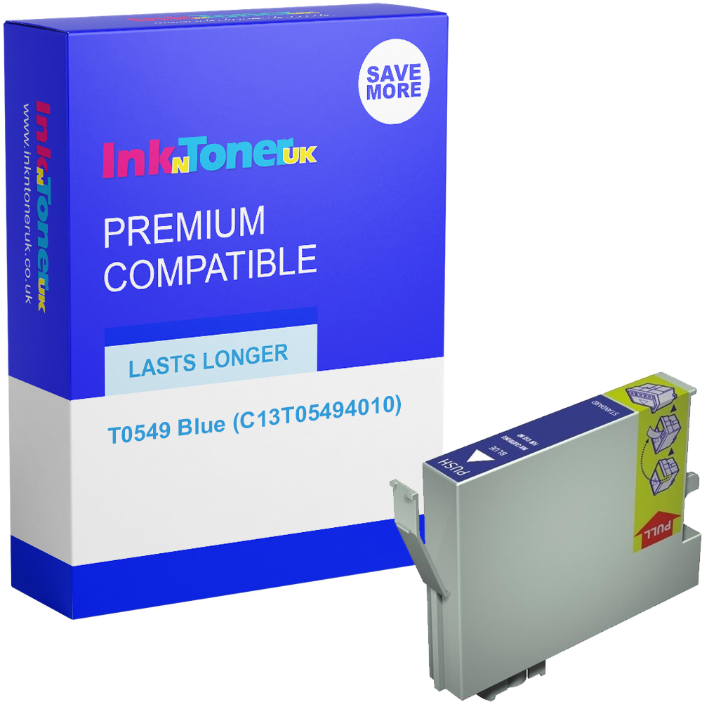 Premium Compatible Epson T0549 Blue Ink Cartridge (C13T05494010)
