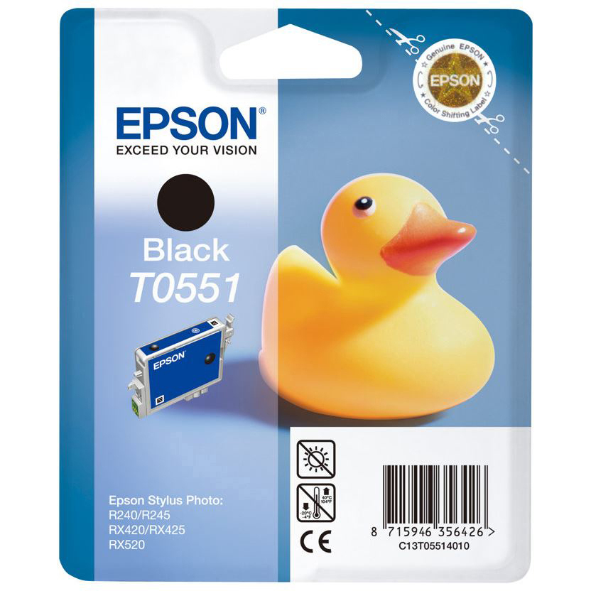 Original Epson T0551 Black Ink Cartridge (C13T05514010)