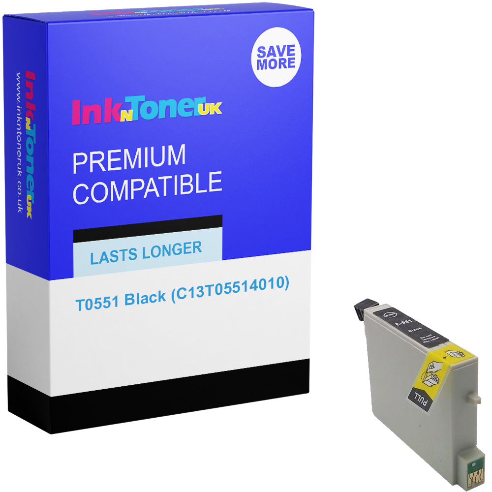 Premium Compatible Epson T0551 Black Ink Cartridge (C13T05514010)