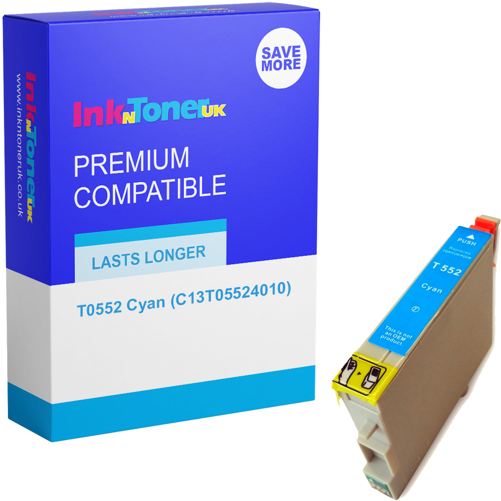 Premium Compatible Epson T0552 Cyan Ink Cartridge (C13T05524010)