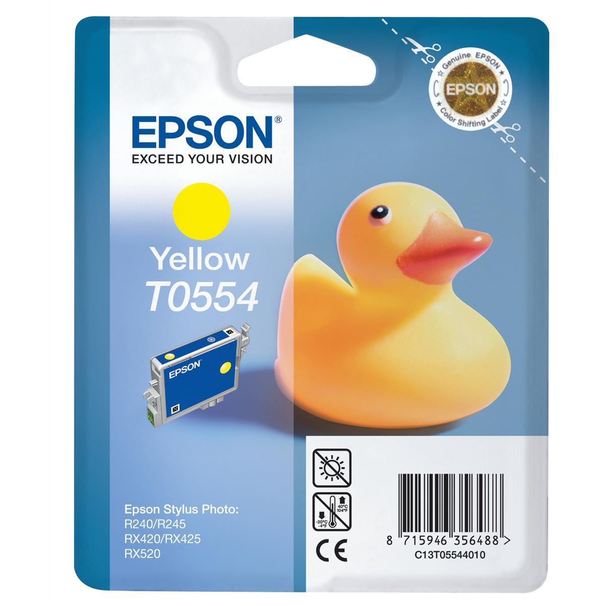 Original Epson T0554 Yellow Ink Cartridge (C13T05544010)