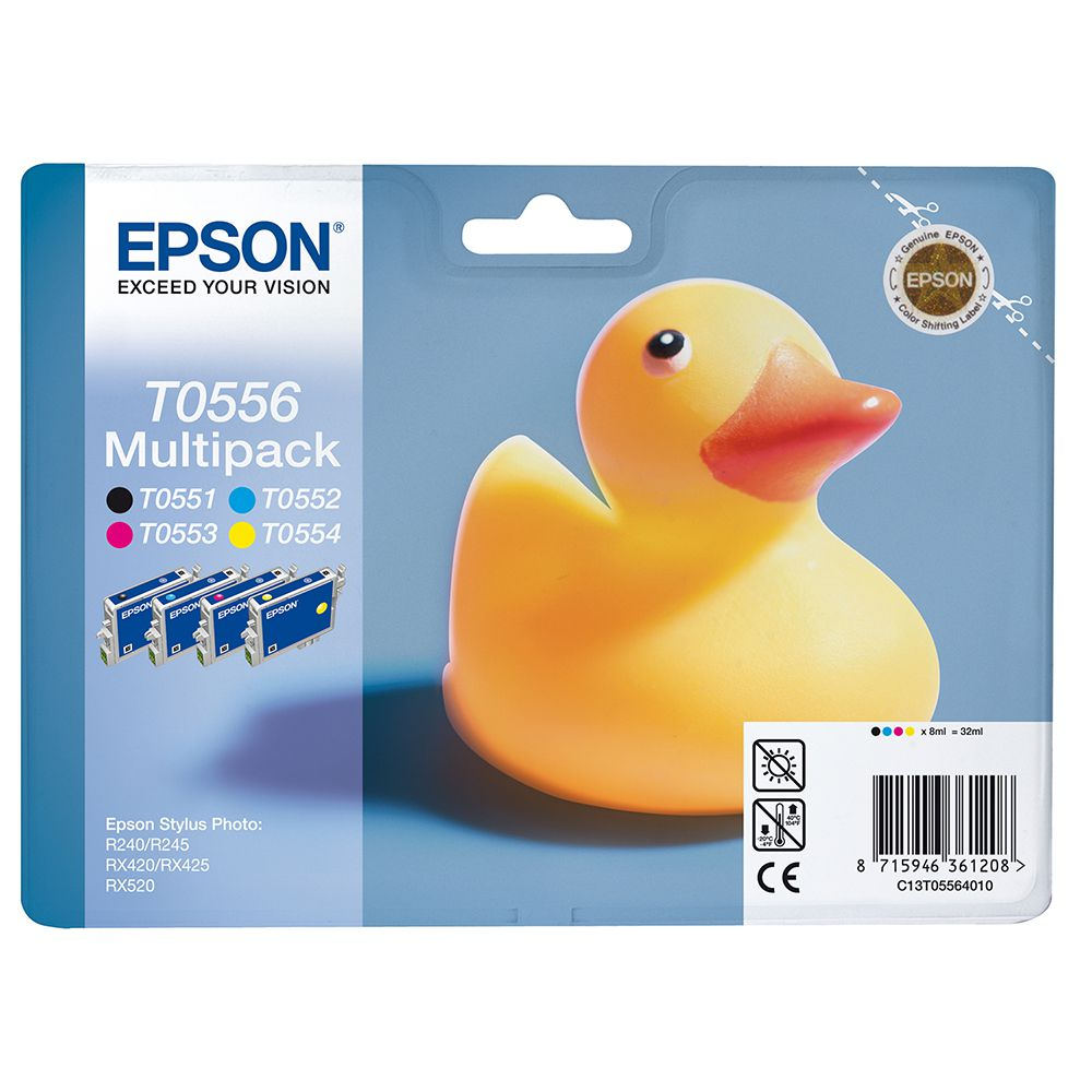Original Epson T0556 CMYK Multipack Ink Cartridges (C13T05564010)