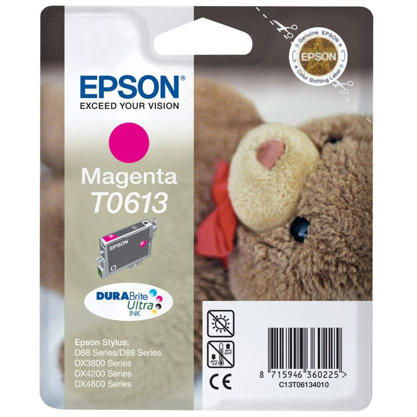 Original Epson T0613 Magenta Ink Cartridge (C13T06134010)