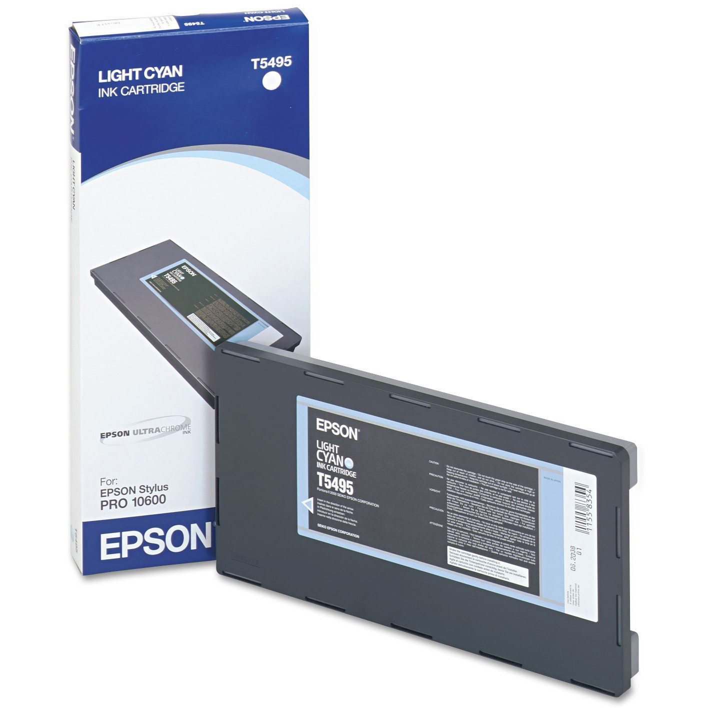Original Epson T5495 Light Cyan Ink Cartridge (C13T549500)