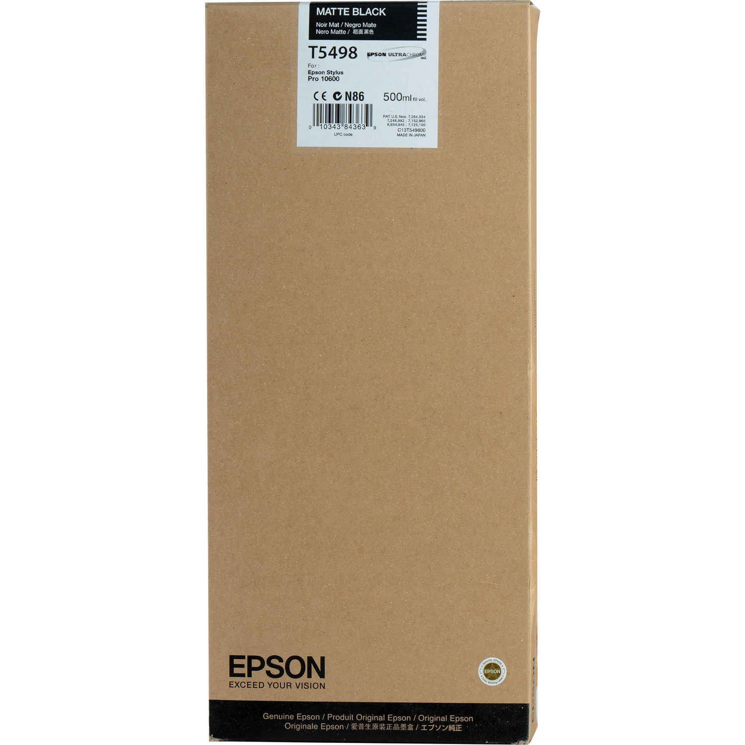 Original Epson T5498 Matte Black Ink Cartridge (C13T549800)