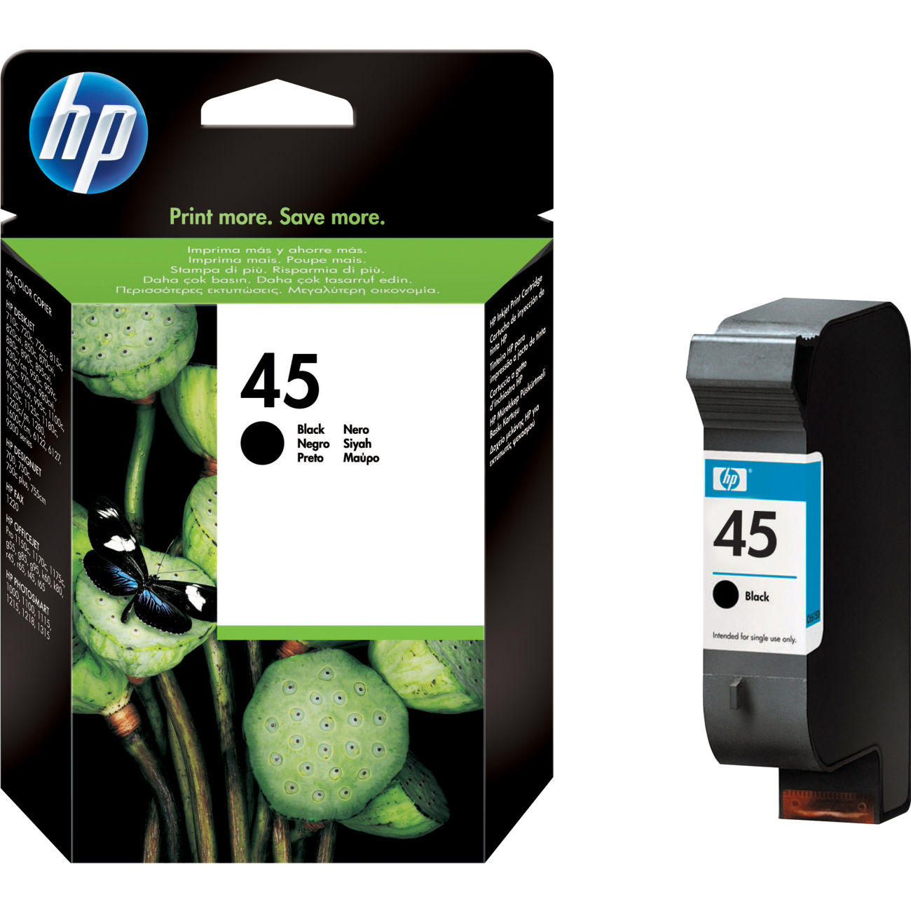 Original HP 45 Black High Capacity Ink Cartridge (51645AE)