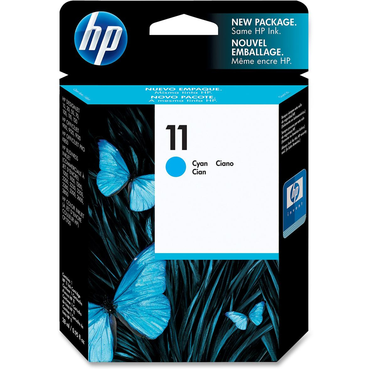 Original HP 11 Cyan Ink Cartridge (C4836AE)