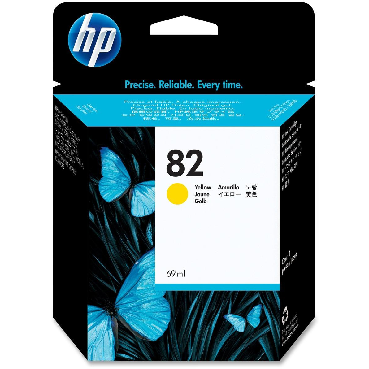 Original HP 82 Yellow High Capacity Ink Cartridge (C4913A)