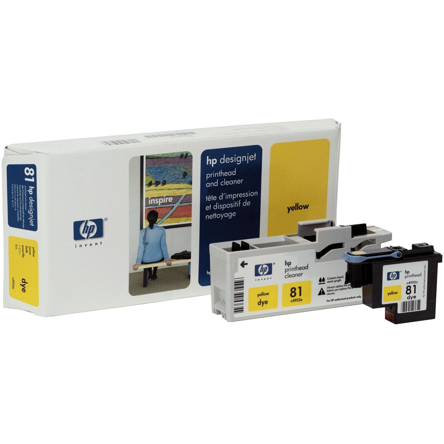 Original HP 81 Yellow Printhead & Cleaner (C4953A)