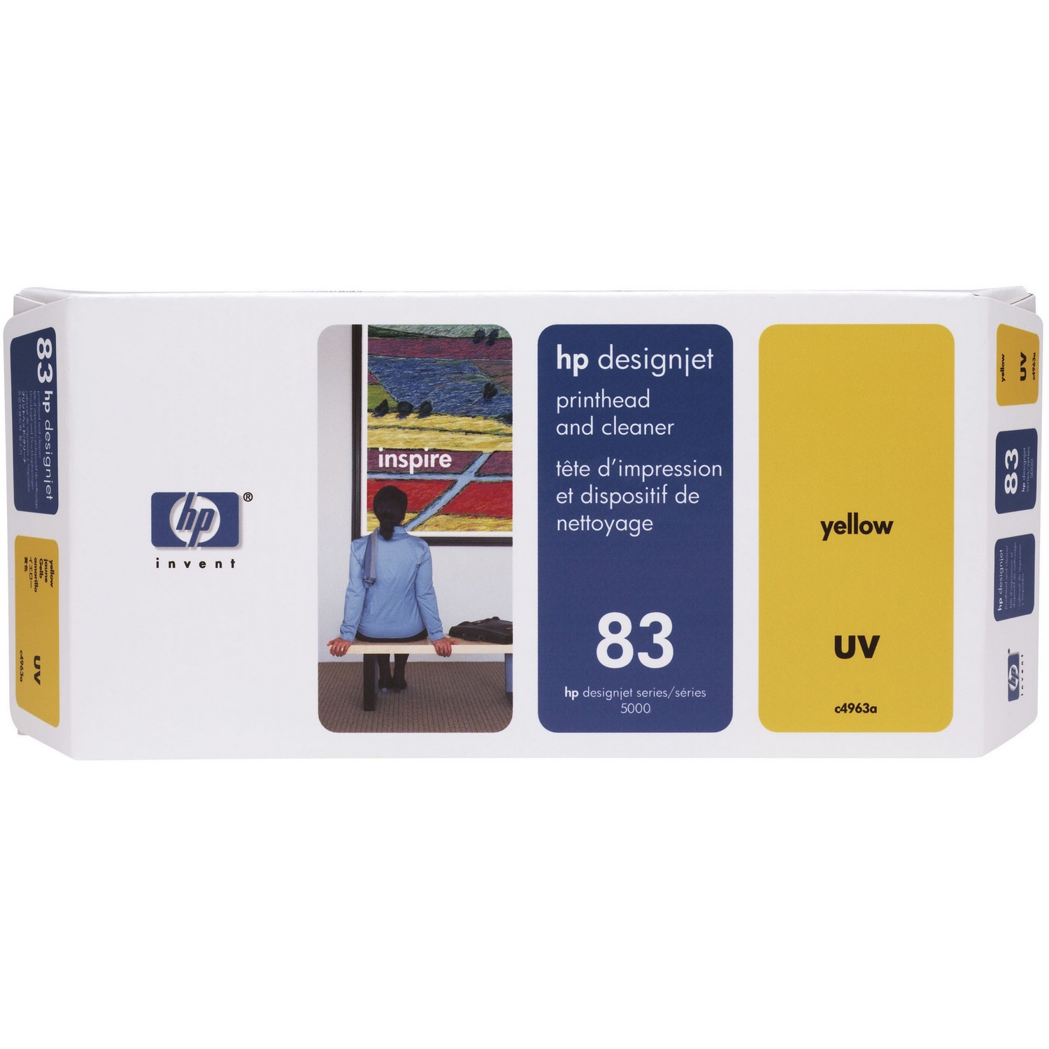 Original HP 83 Yellow Printhead & Cleaner (C4963A)