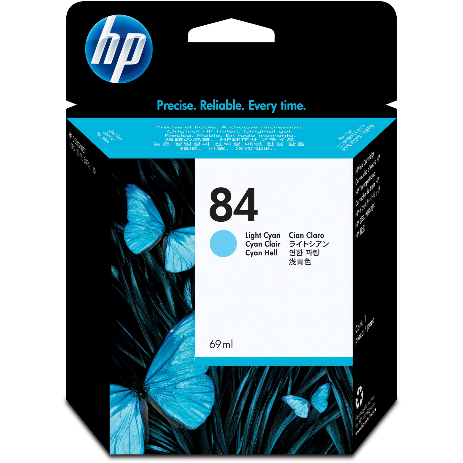 Original HP 84 Light Cyan Ink Cartridge (C5017A)