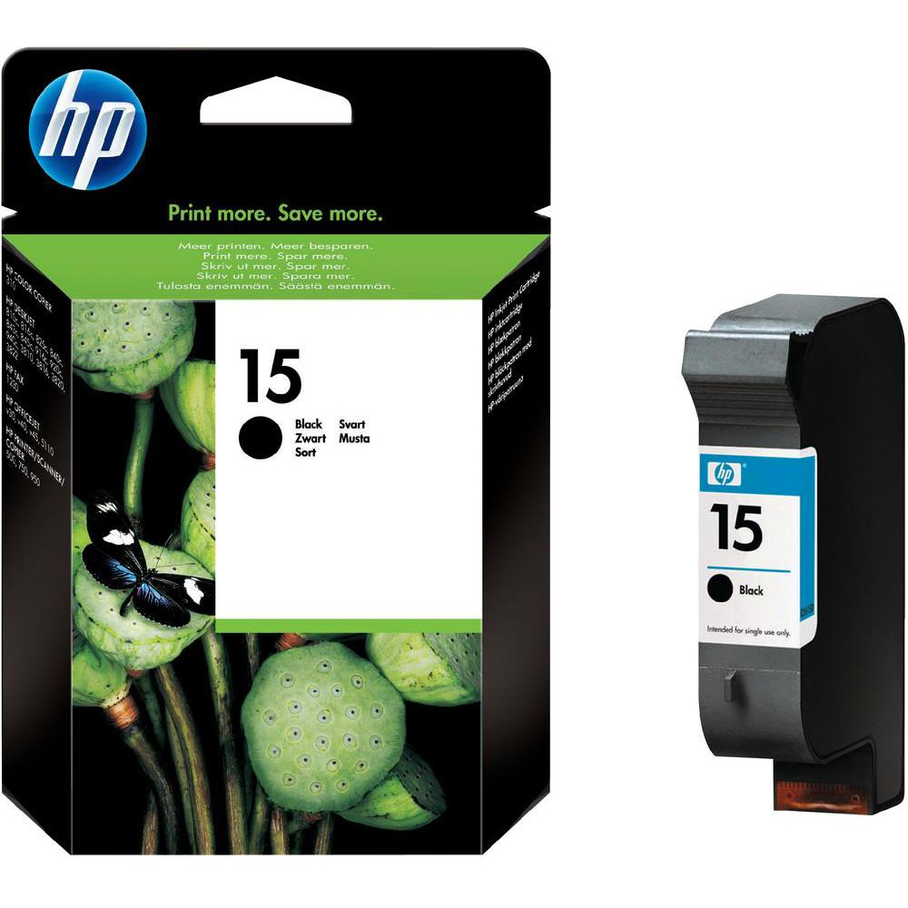 Original HP 15 Black High Capacity Ink Cartridge (C6615DE)