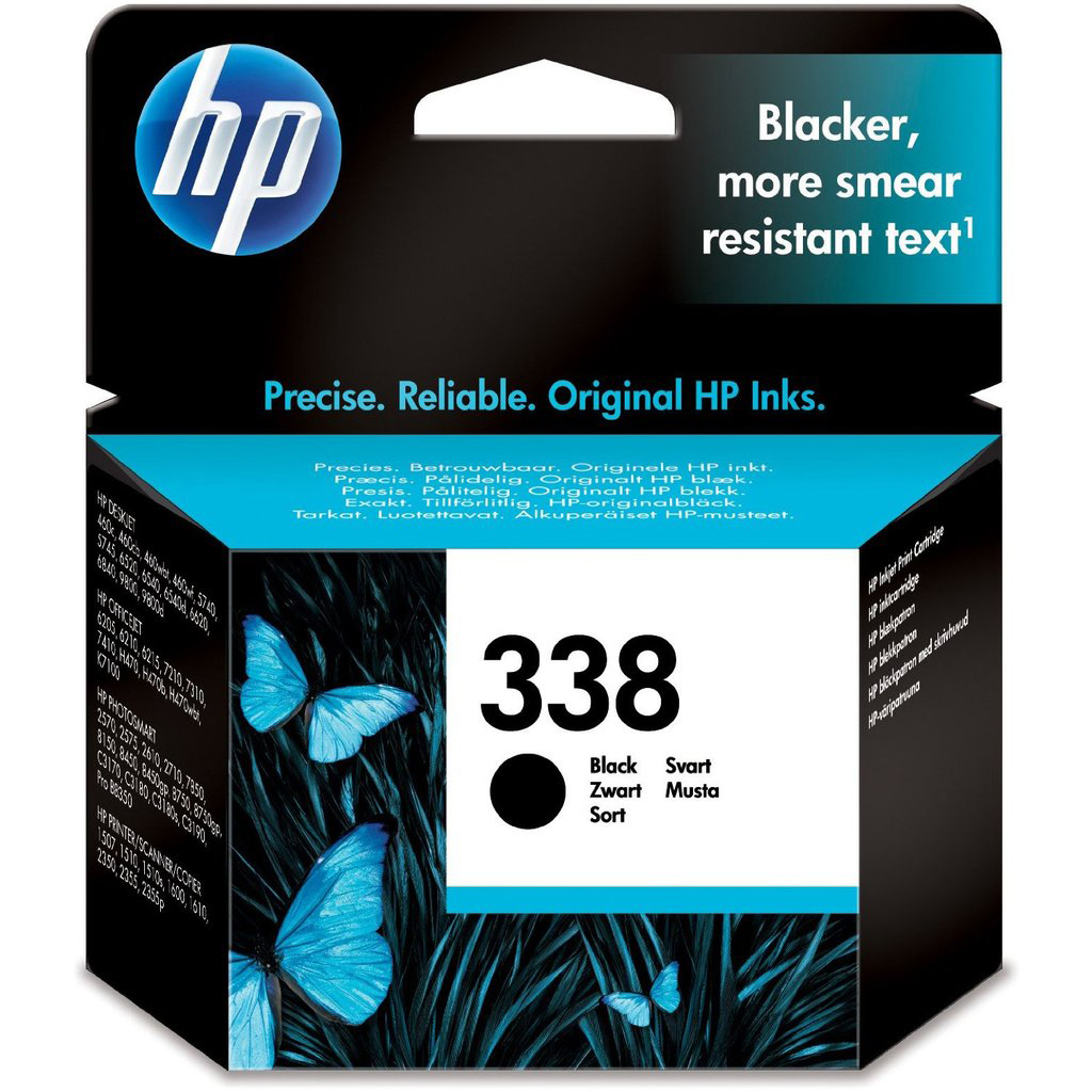 Original HP 338 Black Ink Cartridge (C8765EE)