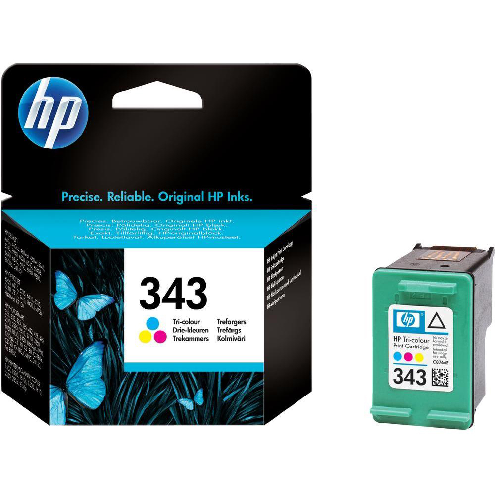 Original HP 343 Colour Ink Cartridge (C8766EE)