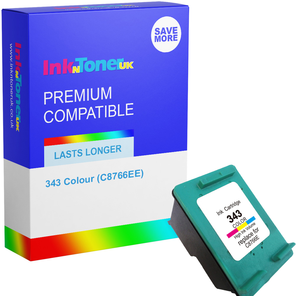 Premium Remanufactured HP 343 Colour Ink Cartridge (C8766EE)