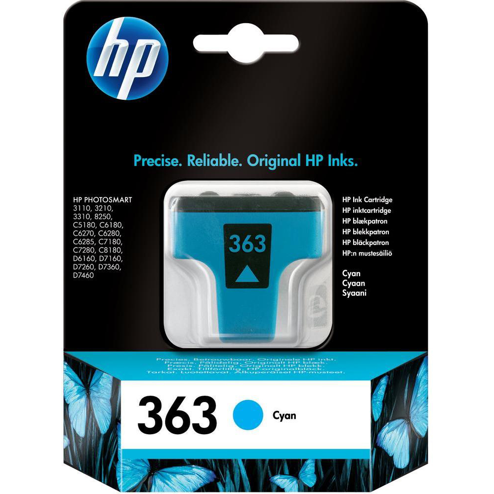 Original HP 363 Cyan Ink Cartridge (C8771EE)