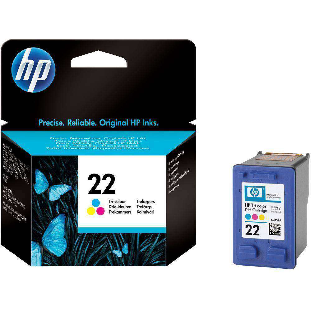 Original HP 22 Colour Ink Cartridge (C9352AE)