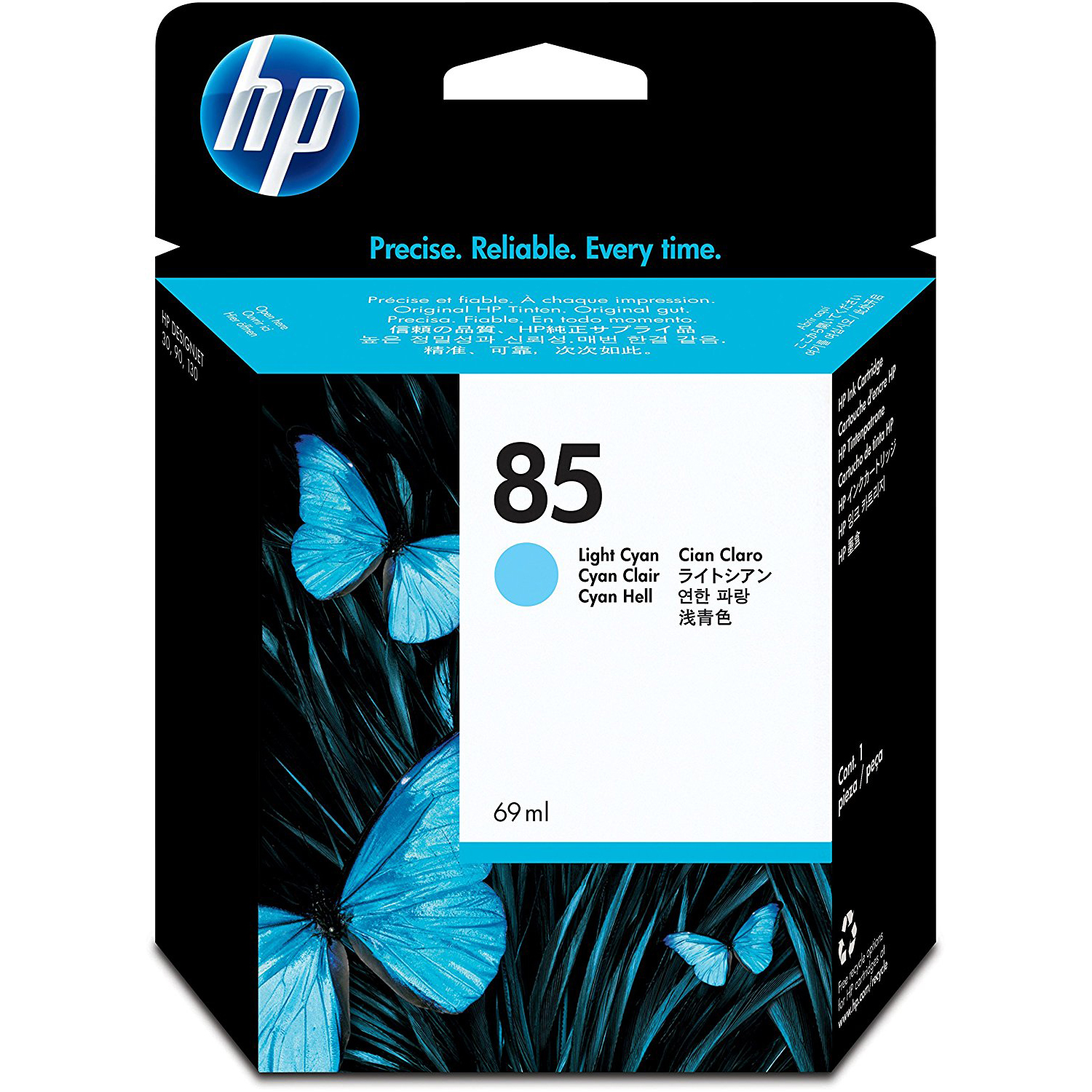 Original HP 85 Light Cyan Ink Cartridge (C9428A)