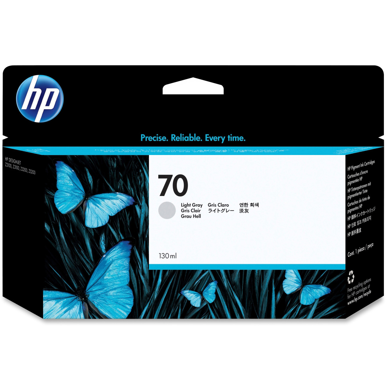 Original HP 70 Light Grey Ink Cartridge (C9451A)