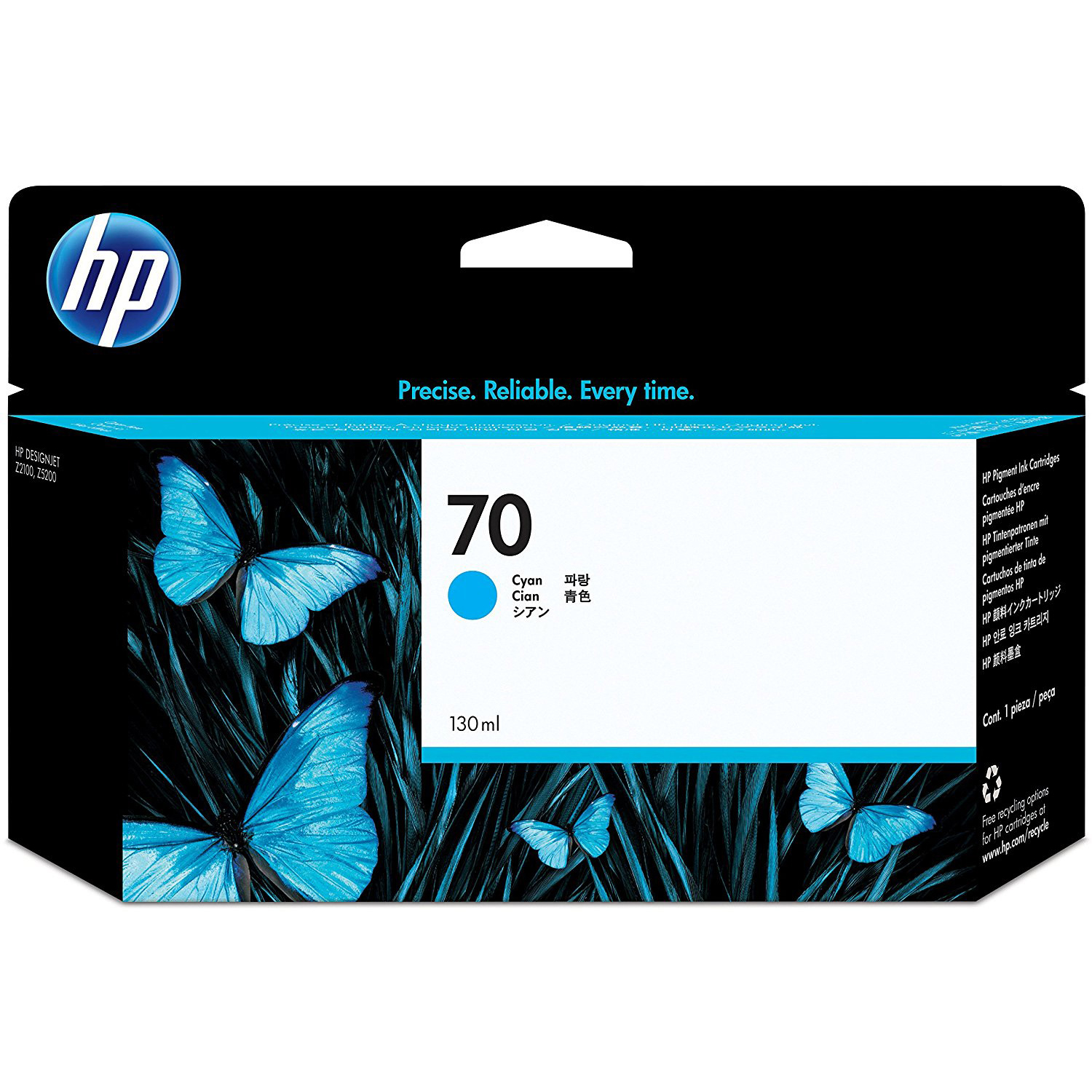 Original HP 70 Cyan Ink Cartridge (C9452A)