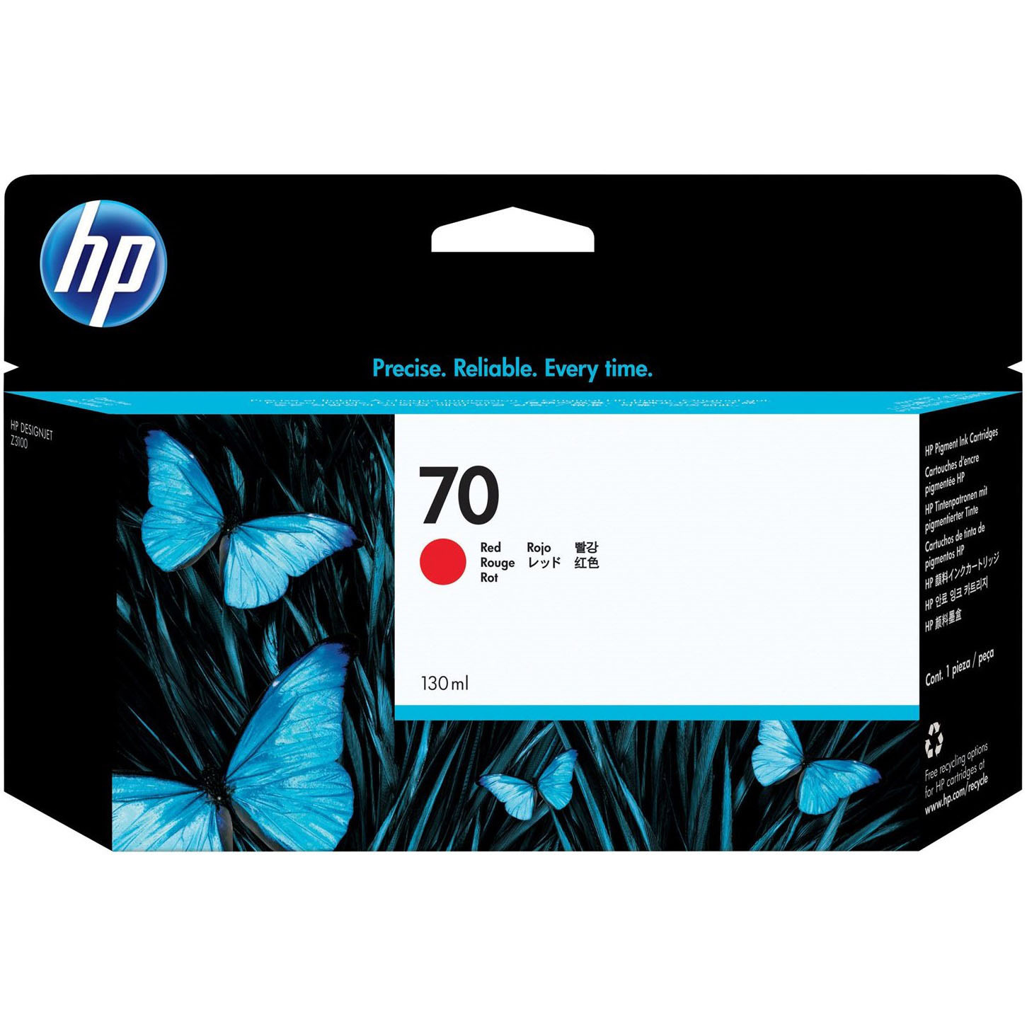 Original HP 70 Red Ink Cartridge (C9456A)