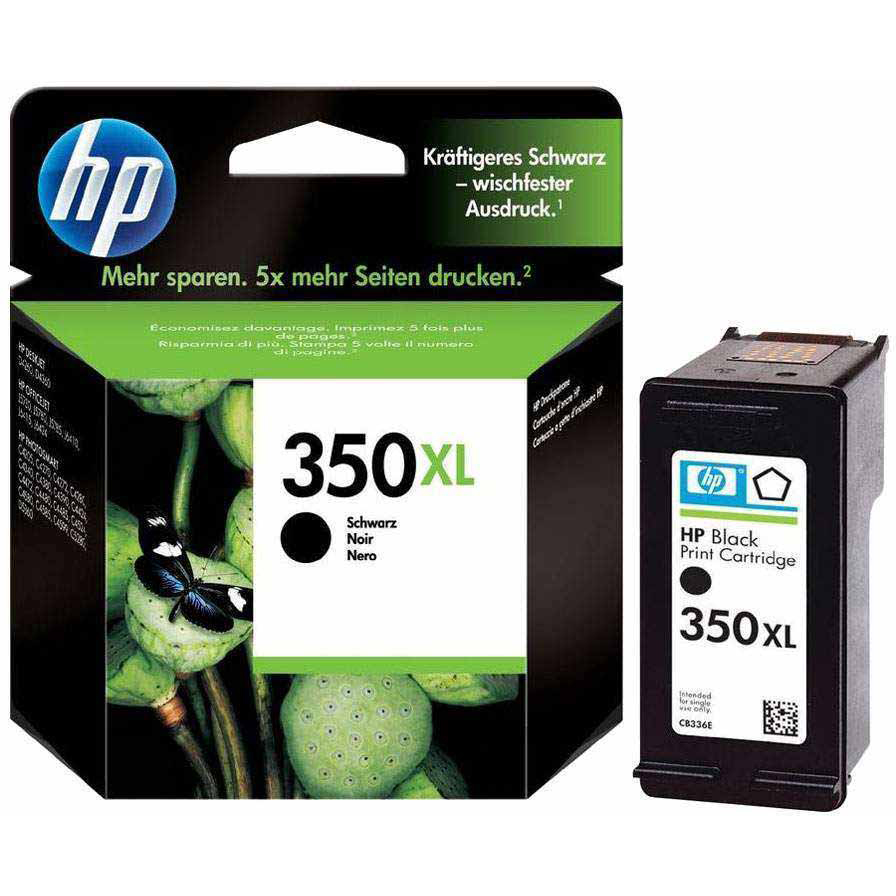 Original HP 350XL Black High Capacity Ink Cartridge (CB336EE)