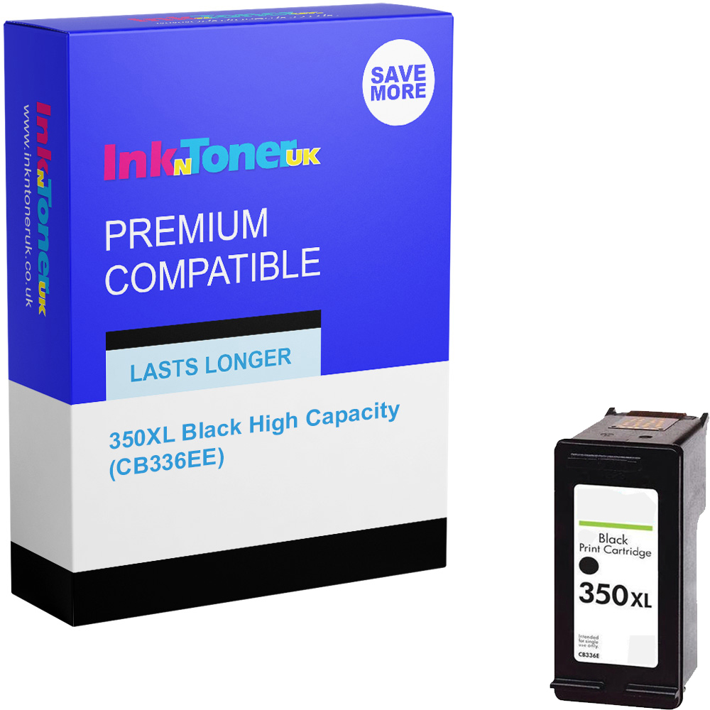 Premium Remanufactured HP 350XL Black High Capacity Ink Cartridge (CB336EE)