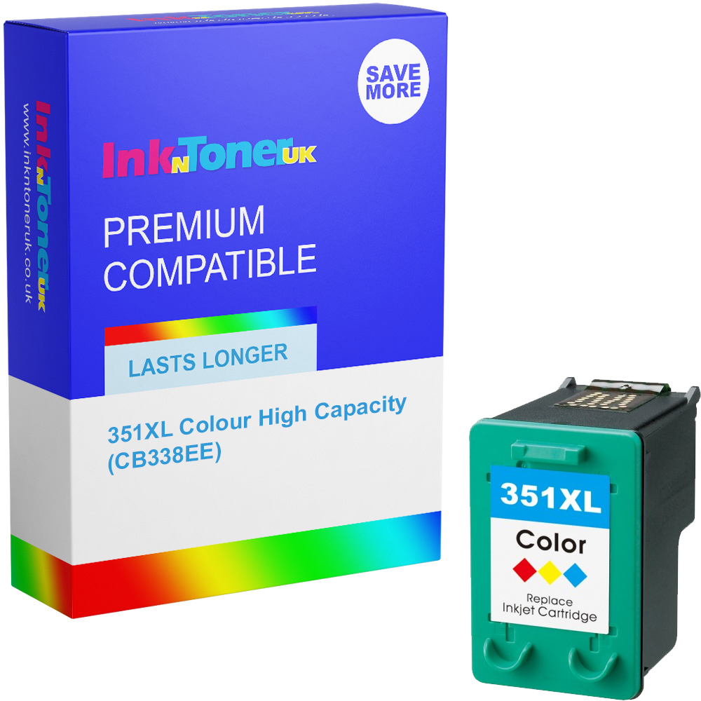 Premium Remanufactured HP 351XL Colour High Capacity Ink Cartridge (CB338EE)