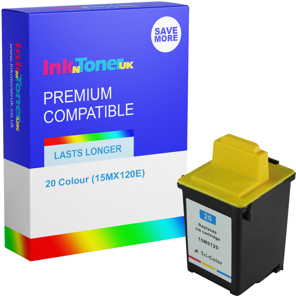Premium Remanufactured Lexmark 20 Colour Ink Cartridge (15MX120E)