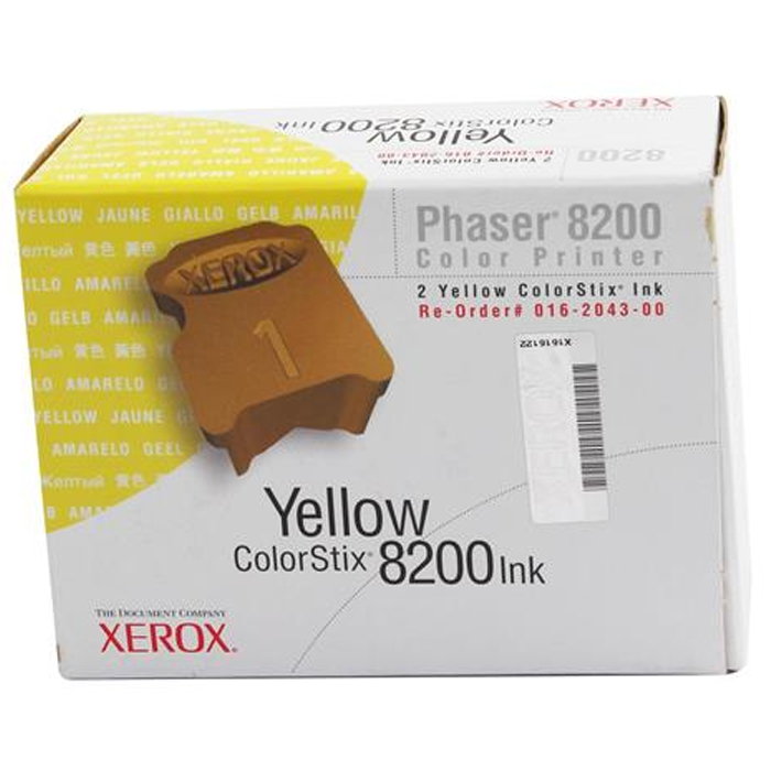 Original Xerox 16204300 Yellow Twin Pack Solid Ink (016204300)