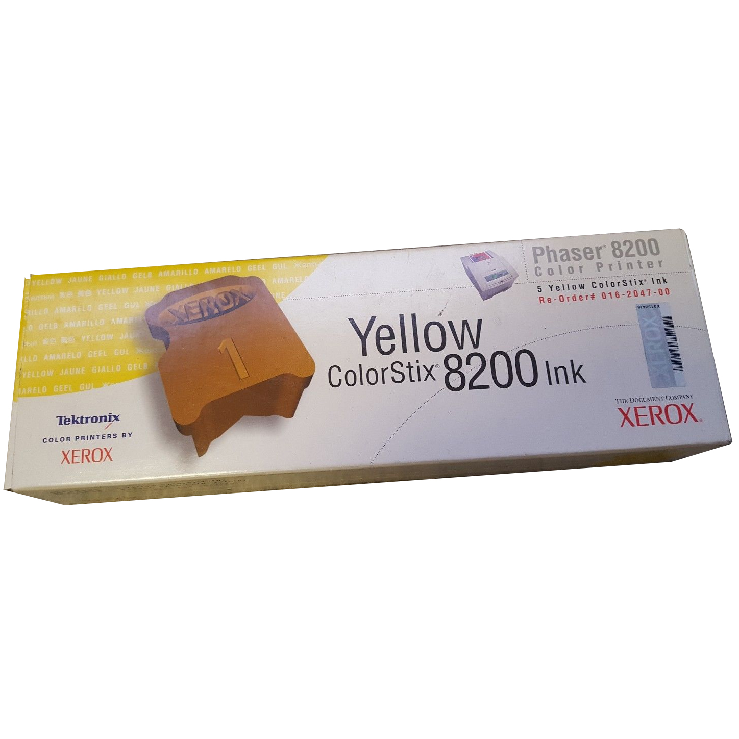 Original Xerox 16204700 Yellow 5 Pack Solid Ink (016204700)