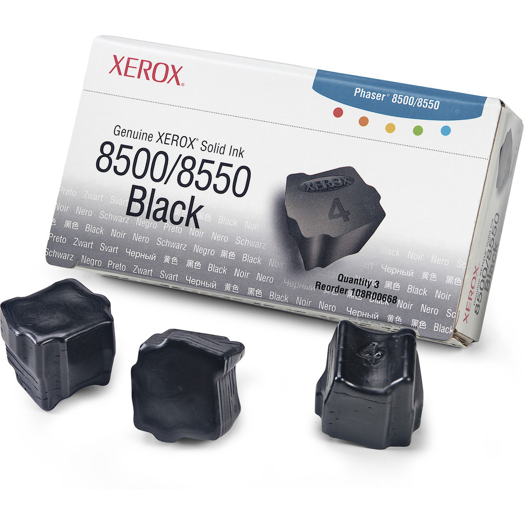 Original Xerox 108R00668 Black Triple Pack Solid Ink (108R00668)