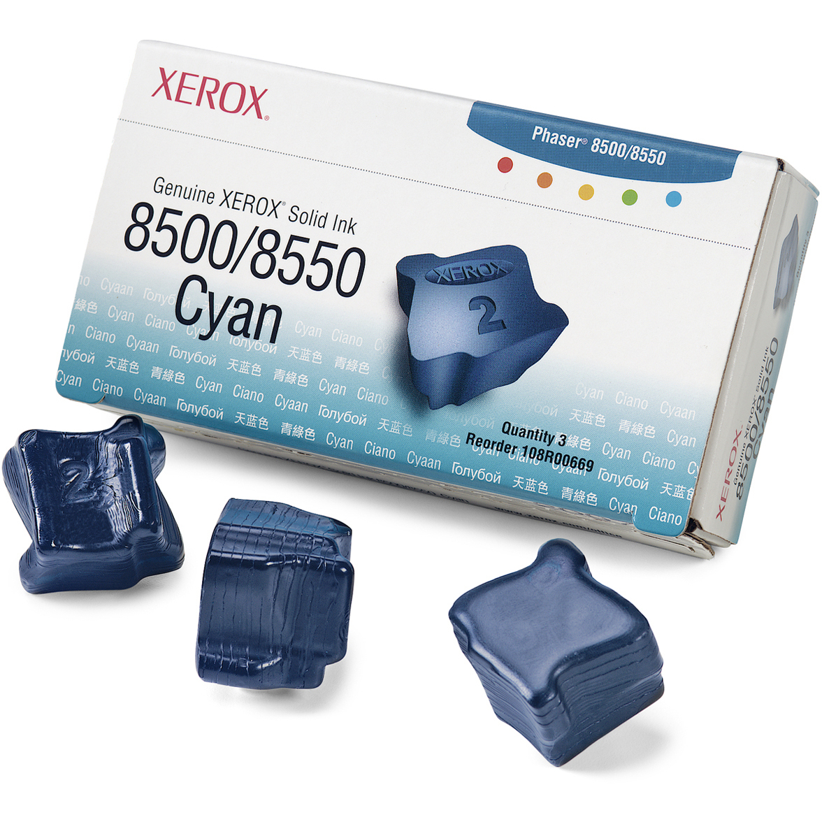 Original Xerox 108R00669 Cyan Triple Pack Solid Ink (108R00669)