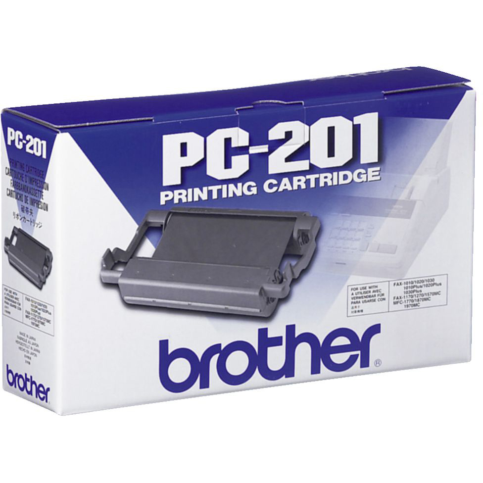 Original Brother PC-201 Black Ink Ribbon Cartridge (PC201)