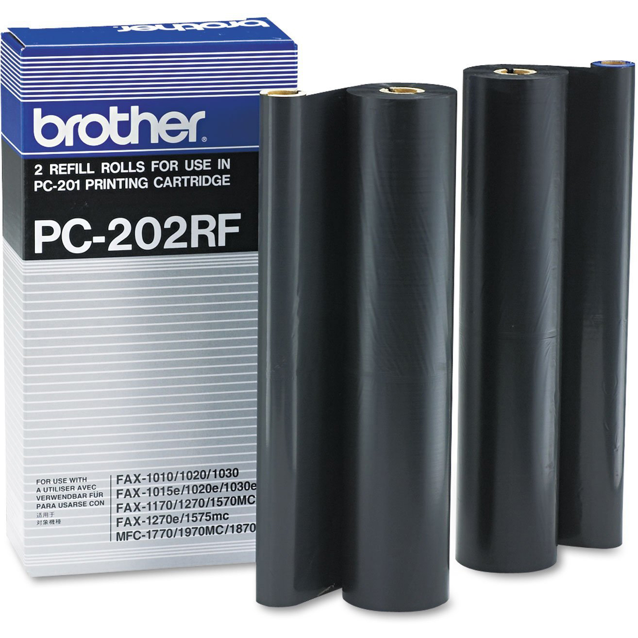 Original Brother PC-202RF Black Twin Pack Thermal Ribbons (PC202RF)