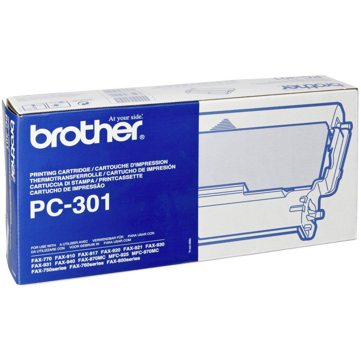 Original Brother PC-301RF Black Thermal Ribbon (PC301)