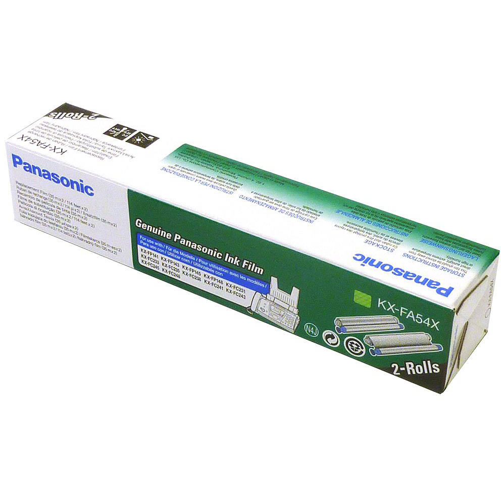 Original Panasonic KX-FA54X Black Twin Pack Ink Film Ribbons (KX-FA54X)