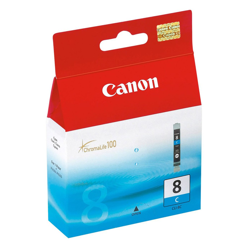 Original Canon CLI-8C Cyan Ink Cartridge (0621B001)