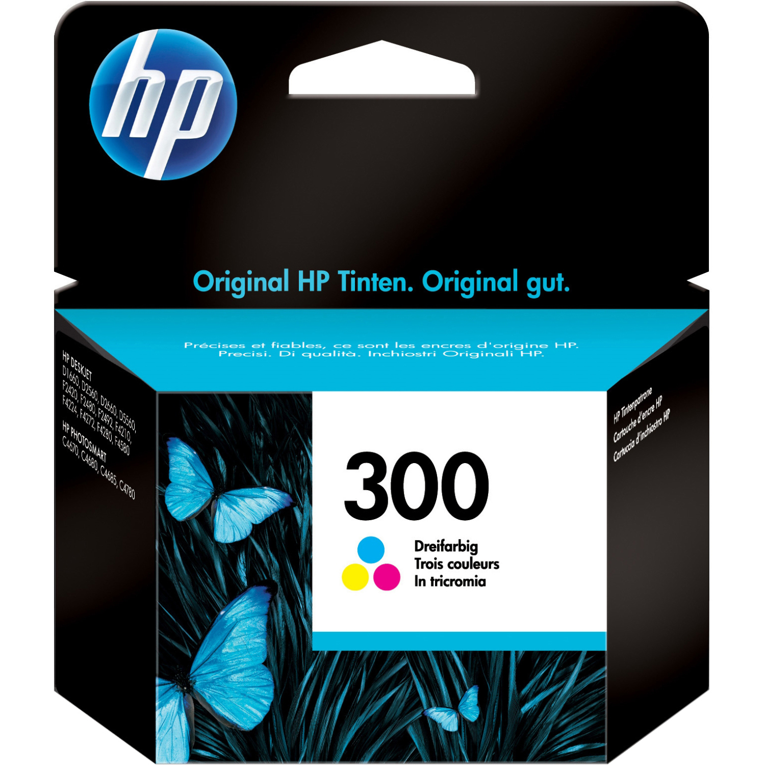 Original HP 300 Colour Ink Cartridge (CC643EE)
