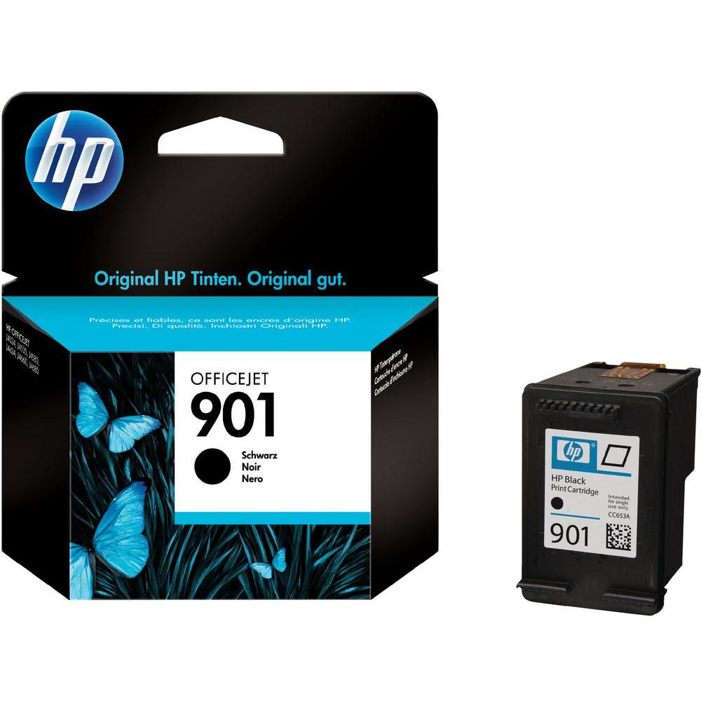 Original HP 901 Black Ink Cartridge (CC653A)