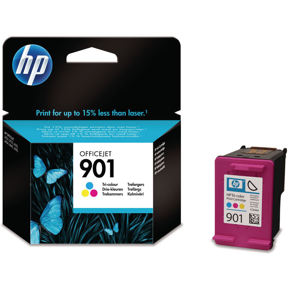 Original HP 901 Colour Ink Cartridge (CC656A)