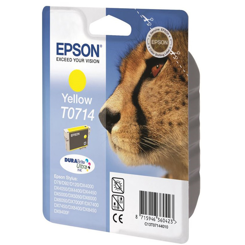 Original Epson T0714 Yellow Ink Cartridge (C13T07144011)