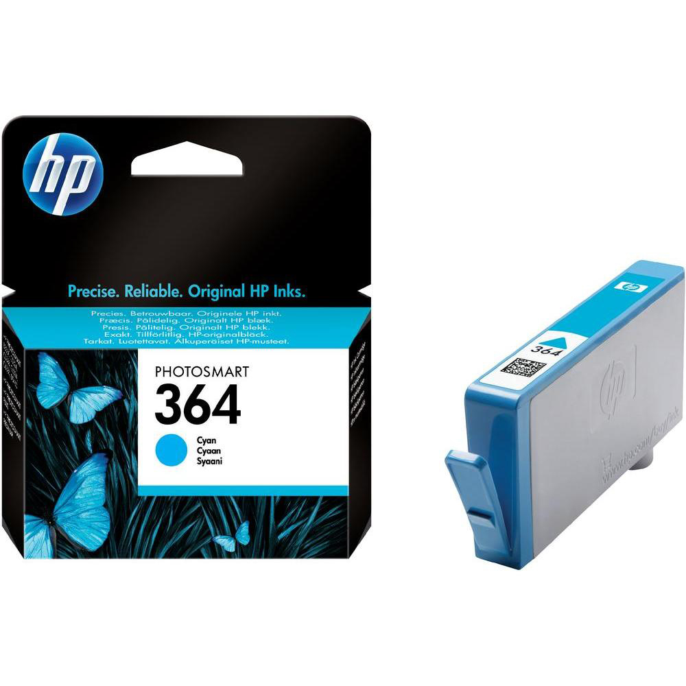 Original HP 364 Cyan Ink Cartridge (CB318EE)